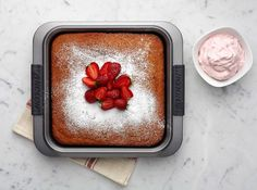 This strawberry cake is not made with Jell-o or food coloring so don't be surprised when it comes out of the oven and is not bright pink.  This cake still packs a mean strawberry kick.  The top of the cake does not dome and the crumb is very tender due to the amount of fruit preserve and fresh fruit.  Add a layer of jam between layers or in the center of the cupcake and top with a delicious whipped cream frosting to really capture the lightness of the crumb. more