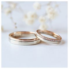 Wedding Rings Sets His And Hers, Cheap Wedding Rings, Matching Wedding Bands, Wedding Rings Vintage, Diamond Wedding Bands, Gold Wedding, Wedding Simple, Wedding Bands Couples, His And Hers Rings
