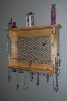 Hey, I found this really awesome Etsy listing at https://www.etsy.com/listing/208691037/jewelry-holder-wall-mounted-jewelry