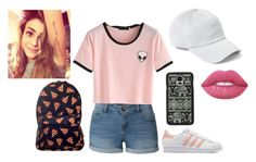 """Taurus at school"" by gabby325 ❤ liked on Polyvore featuring LE3NO, adidas Originals, Samsung, rag & bone and Lime Crime"