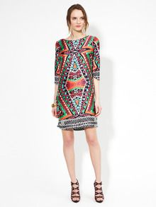Great printed shift dress by Alexia Admor. Bright and fun