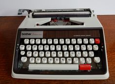 A Vintage Retro Brother Deluxe 1350 Typewriter , With Case, good condition.Desk addition, collectable, stationary by Route46Vintage on Etsy