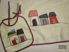 babero y toalla casitas---Manualicraft - Amigurumi, scrap y costura creativa