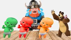 Baby Viking Cry THE BOSS BABY Learning Color MASHA and the BEAR Learn Colors For Kids Finger Family