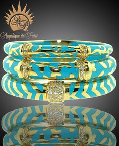 Need these bangles!  They say that Turquoise is good luck!  Angelique de Paris Bracelets