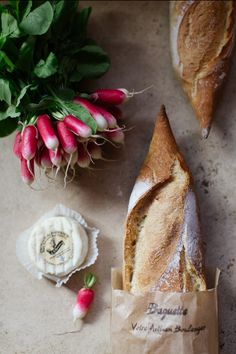 """Where's The Wine Please?!""  To Accompany: The Fresh Baguette,  Fromage And Radis du Jardin."