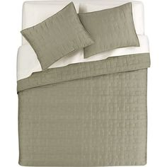 Anujah Sage Bed Linens in Quilts, Coverlets | Crate and Barrel