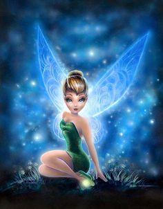 Disney Fairy Tinkerbell sitting among the stars Tinkerbell And Friends, Tinkerbell Disney, Tinkerbell Fairies, Disney Fairies, Disney Girls, Tinkerbell Movies, Disney Artwork, Disney Drawings, Dark Disney
