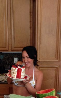 Watermelon cake was a huge success!!! And super healthy!!