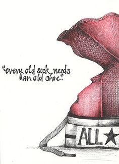 every old sock needs an old shoe by andrea joseph's illustrations, via Flickr