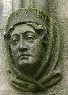learn.....Stone Face on Manchester Cathedral (She)