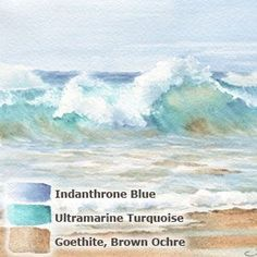 12. Summer colors - Daniel Smiths' extra fine watercolor triad: Sand & Surf: #watercolorarts