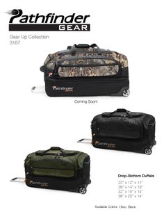 This Pathfinder GEAR Duffel with Realtree camouflage patterns is perfect for my student headed off to college.