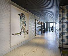 Drake Devonshire hotel hallway with artwork