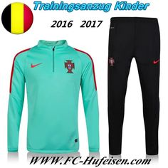 Schönsten Neue Fußball Trainingsanzug Portugal Kinder Kits Grün 2016 2017 Meaney