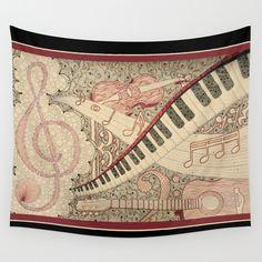 """Shimmering Symphony – Original"" Wall Tapestry – Karlee Porter"