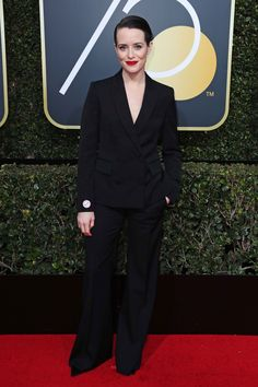 Claire Foy in Stella McCartney with Harry Winston jewellery.