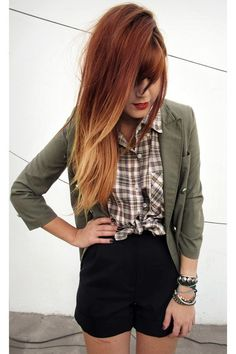 I want to do this to my hair! Ombre with red and blonde
