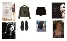 your a banshee and a hunter by delilah-teen-wolf on Polyvore featuring polyvore fashion style River Island Converse clothing teen wolf