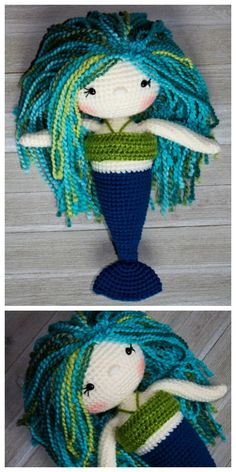 The Friendly Mermaid Crochet Doll- Full tutorial on how to attach the hair and get all those sweet little details JUST RIGHT!