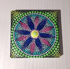 Original Small Flower Mandala Painting on by CreateAndCherish