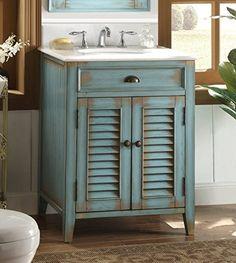 Lark Manor Manon 26 Single Bathroom Vanity Set Color: B 40039884175249727 Blue Bathroom Interior, Pink Vanity, Vanity Set With Mirror, Single Sink Bathroom Vanity, Vanity Sink, Small Bathroom, Bathroom Vanities, Bathroom Ideas, Master Bathroom