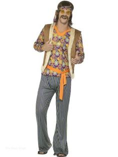 70er 80er Ans Manteau Homme Costume Hippie Costume Hippie Fête Disco Hippy Veste