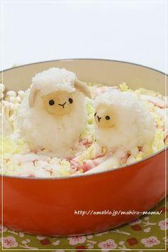 Deco-Nabe with Daikon Radish Sheep Japanese Food Art, Japanese Dishes, Cute Food Art, Enjoy Your Meal, Cute Bento Boxes, Kawaii Bento, Bento Recipes, Brunch, Food Decoration