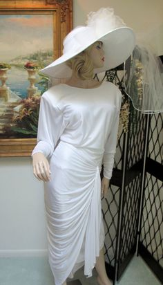 Olde Hollywood Art Deco Style Couture White by AllThatJazzDesign, $95.00