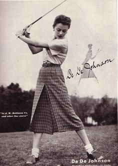 Image detail for -DeDe Johnson featuring women's vintage golf attire, circa 1952 via ...