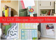 Roundup: 10 DIY Recipe and Cookbook Storage Ideas