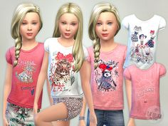T- Shirt Collection GP06  Found in TSR Category 'sims 4 Female Child Everyday'