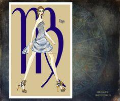 Virgo fashion illustration Greeting Card5.5x8 by MedusasEmporium2