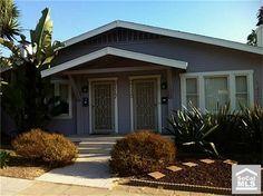 A beautiful 1929 Craftsman bungalow duplex.  I wish I lived here!