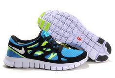 4d72c5ed94ee2 Free Run 2 Womens Shoes Blue Black Green Nike Trainers