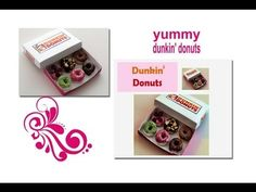 ▶ DIY: How To Make Dunkin' Donuts With Polymer Clay - YouTube