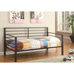 COASTER furniture Daybeds by Coaster Contemporary Metal Daybed Price: $263 Coupon code : 1234567 for Big saving 20% off Free shipping and NO Sale Tax