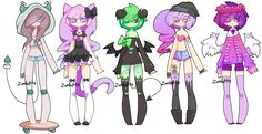 Adoptables Batch 14: CLOSED by Zombutts on DeviantArt