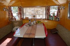 Very Sharp Dining Area in 1948 Spartan Manor Travel Trailer