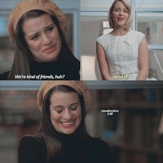 """— glee 