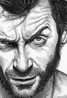 Discover recipes, home ideas, style inspiration and other ideas to try. Art Drawings Sketches Simple, Portrait Sketches, Pencil Art Drawings, Pencil Portrait, Portrait Art, Avengers Drawings, Wolverine Art, Logan Wolverine, Celebrity Drawings
