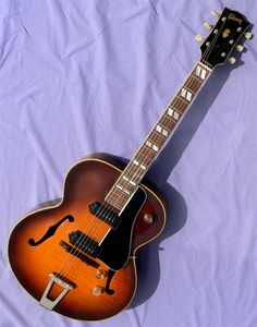 1949 Gibson ES-300 Jazz Guitar, Guitar Amp, Cool Guitar, Archtop Guitar, Guitars, Wall Of Sound, Music Instruments, Cool Stuff, Cool Things