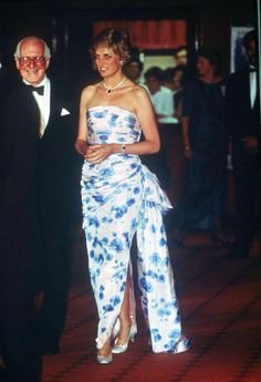 Princess Diana at the 'Crocodile Dundee' film premiere, London, Britain – 1988 (REX/Shutterstock)