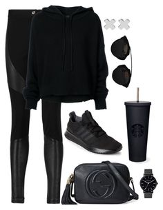 """Untitled #4720"" by magsmccray on Polyvore featuring Givenchy, RtA, adidas, Gucci, Christian Dior and Witchery"