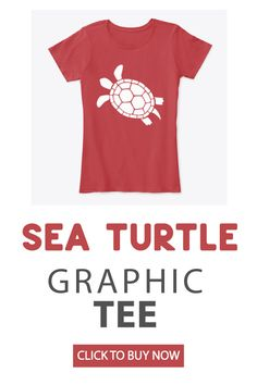 This chic graphic tee is an easy way to add pizazz to your wardrobe.  Pair it with shorts, jeans, leggings, or even tuck it into a skirt! This piece is sure to become your go-to for comfort and cool.  #seaturtle #graphictee #turtleshirt