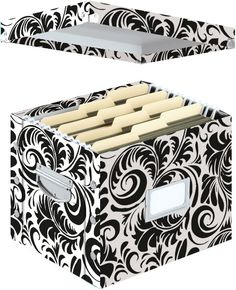 Letter-Size Hanging File Folders Storage Organizer Box