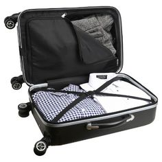 NFL Tampa Bay Buccaneers Mojo Carry-On Hardcase Spinner Luggage - Black