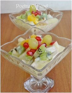 Poetry Of Food: Indian Style Fruit Custard Recipe...!!!