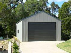 Farmhouse style metal buildings for Carport Garage, Garage House, Garage Plans, Carport Ideas, Garage Doors, Fence Ideas, Metal Garage Buildings, Steel Buildings, Double Front Doors