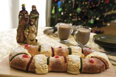 """Roscon de Reyes"" is a traditional dessert, served the night before or morning of ""Reyes"" or Epiphany, January 6th. ""Dia de Reyes"" or simply ""Reyes"" is the day when children in Spain receive gifts from the ""Reyes Magos""–Wise Men or Magi."